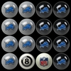Imperial International Detroit Lions Home Versus Away Billiard Ball Set