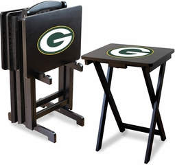 Imperial International Green Bay Packers 4 TV Trays With Stand
