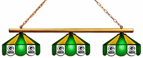 Imperial International Green Bay Packers Glass 3 Shade Lamp