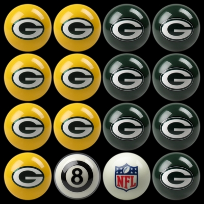 Imperial International Green Bay Packers Home Versus Away Billiard Ball Set