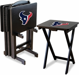 Imperial International Houston Texans 4 TV Trays With Stand