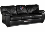 Imperial International Houston Texans Black Leather Classic Sofa