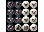 Imperial International Houston Texans Home Versus Away Billiard Ball Set