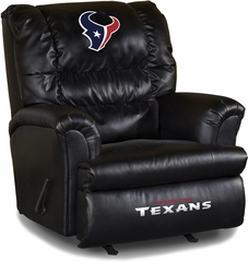 Imperial International Houston Texans Leather Big Daddy Recliner