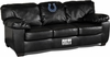 Imperial International Indianapolis Colts Black Leather Classic Sofa