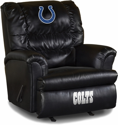 Imperial International Indianapolis Colts Leather Big Daddy Recliner