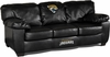 Imperial International Jacksonville Jaguars Black Leather Classic Sofa