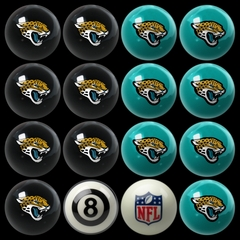Imperial International Jacksonville Jaguars Home Versus Away Billiard Ball Set