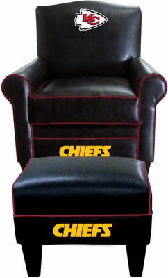 Imperial International Kansas City Chiefs Game Time Chair & Ottoman