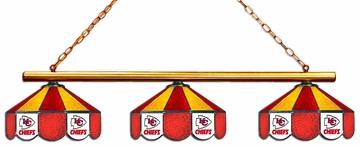 Imperial International Kansas City Chiefs Glass 3 Shade Lamp