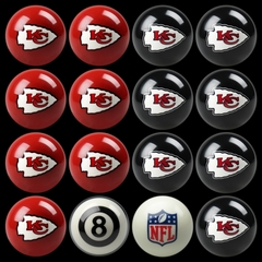 Imperial International Kansas City Chiefs Home Versus Away Billiard Ball Set
