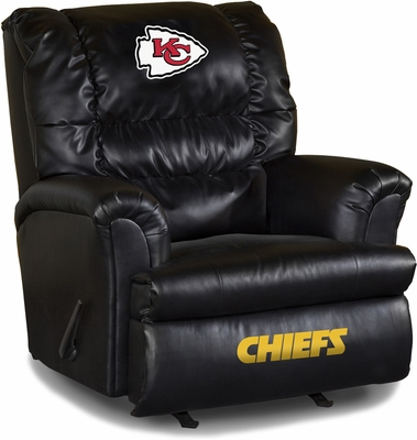 Imperial International Kansas City Chiefs Leather Big Daddy Recliner
