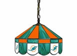 "Imperial International Miami Dolphins 16"" Glass Lamp"