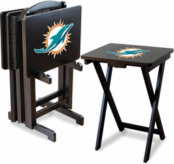 Imperial International Miami Dolphins 4 TV Trays With Stand