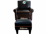 Imperial International Miami Dolphins Game Time Chair & Ottoman