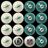 Imperial International Miami Dolphins Home Versus Away Billiard Ball Set