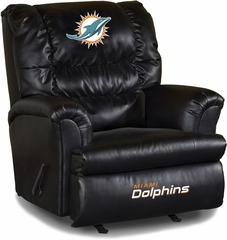 Imperial International Miami Dolphins Leather Big Daddy Recliner