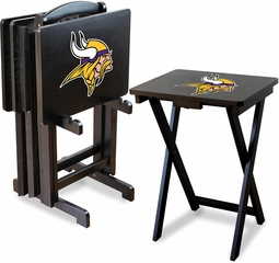 Imperial International Minnesota Vikings 4 TV Trays With Stand