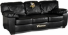 Imperial International Minnesota Vikings Black Leather Classic Sofa