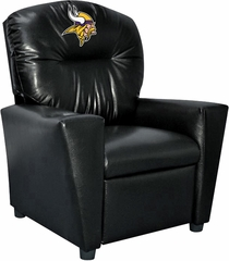 Imperial International Minnesota Vikings Faux Leather Kids Recliner