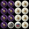 Imperial International Minnesota Vikings Home Versus Away Billiard Ball Set
