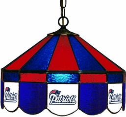 "Imperial International New England Patriots 16"" Glass Lamp"