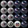 Imperial International New England Patriots Home Versus Away Billiard Ball Set