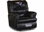 Imperial International New England Patriots Leather Big Daddy Recliner