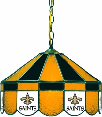 "Imperial International New Orleans Saints 16"" Glass Lamp"