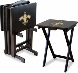 Imperial International New Orleans Saints 4 TV Trays With Stand