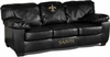 Imperial International New Orleans Saints Black Leather Classic Sofa