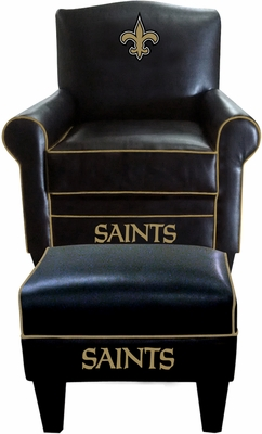 Imperial International New Orleans Saints Game Time Chair & Ottoman