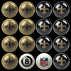 Imperial International New Orleans Saints Home Versus Away Billiard Ball Set