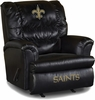 Imperial International New Orleans Saints Leather Big Daddy Recliner