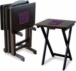 Imperial International New York Giants 4 TV Trays With Stand