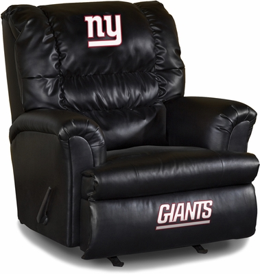 Imperial International New York Giants Leather Big Daddy Recliner