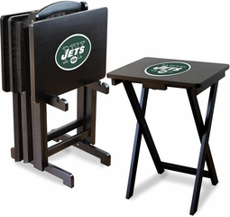Imperial International New York Jets 4 TV Trays With Stand
