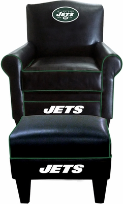 Imperial International New Yorks Jets Game Time Chair & Ottoman