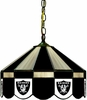 "Imperial International Oakland Raiders 16"" Glass Lamp"