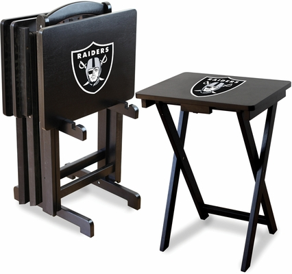 Imperial International Oakland Raiders 4 TV Trays With Stand