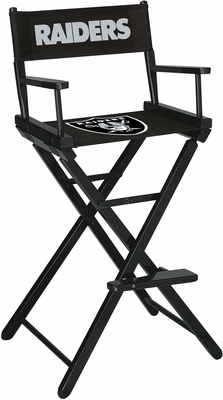 Imperial International Oakland Raiders Bar Height Directors Chair