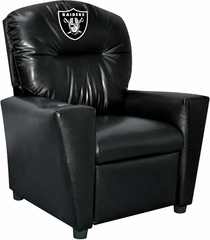 Imperial International Oakland Raiders Faux Leather Kids Recliner