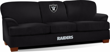 Imperial International Oakland Raiders First Team Microfiber Sofa