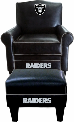Imperial International Oakland Raiders Game Time Chair & Ottoman