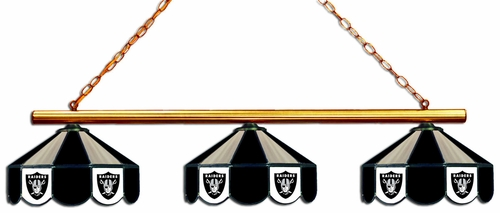 Imperial International Oakland Raiders Glass 3 Shade Lamp