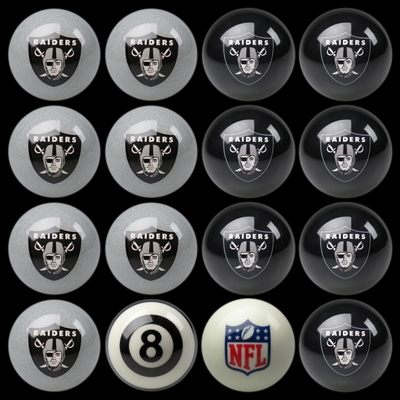 Imperial International Oakland Raiders Home Versus Away Billiard Ball Set