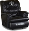 Imperial International Oakland Raiders Leather Big Daddy Recliner