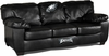 Imperial International Philadelphia Eagles Black Leather Classic Sofa