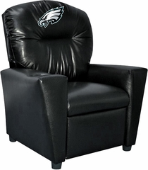 Imperial International Philadelphia Eagles Faux Leather Kids Recliner