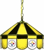 "Imperial International Pittsburgh Steelers 16"" Glass Lamp"